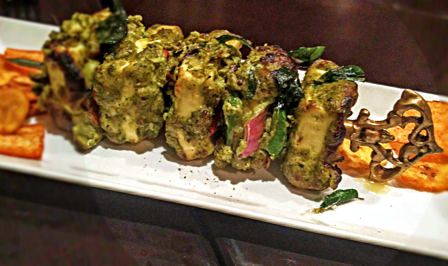 Karuveppilai Paneer Tikka - These are cottage cheese kebabs with a southern twist. The curry leaves loads in nostalgia of southern Indian chutney.